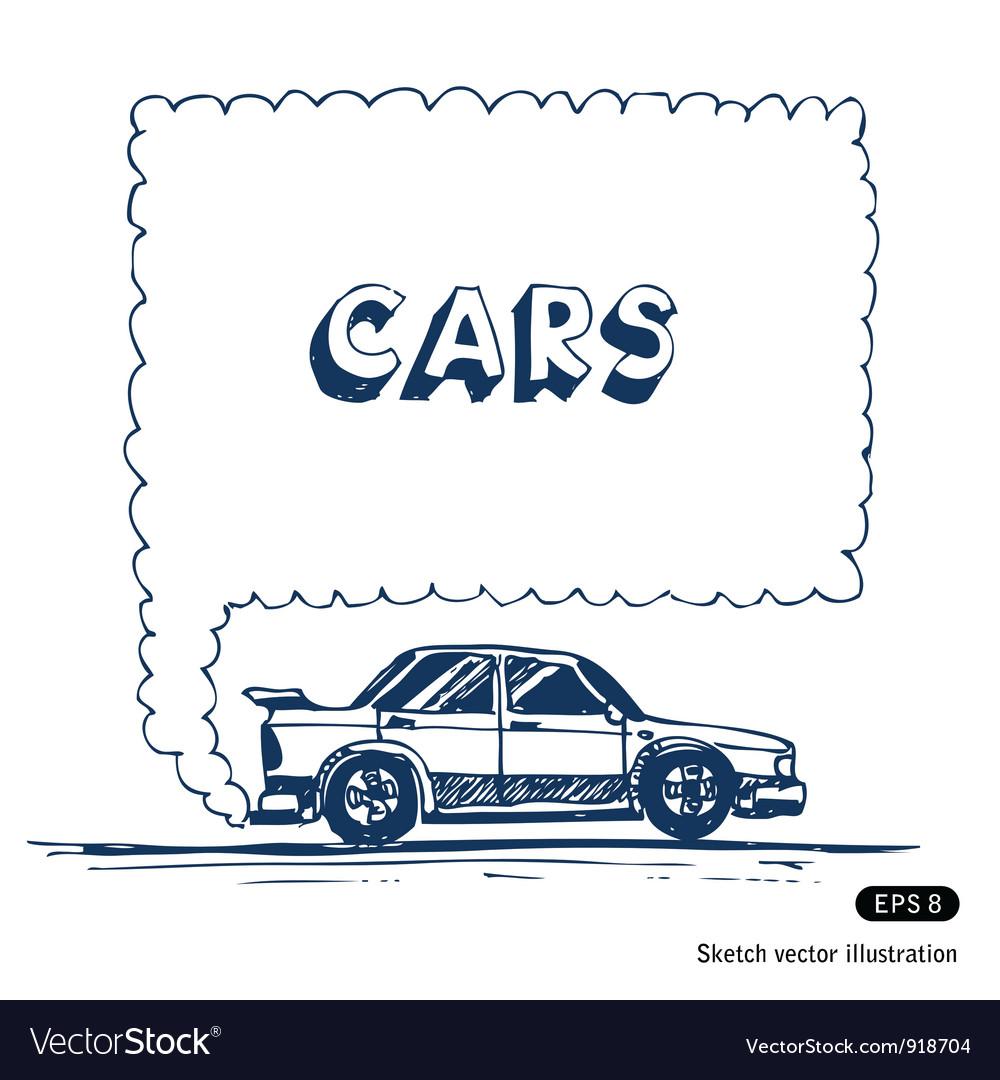 Car blowing exhaust speech bubble vector | Price: 1 Credit (USD $1)