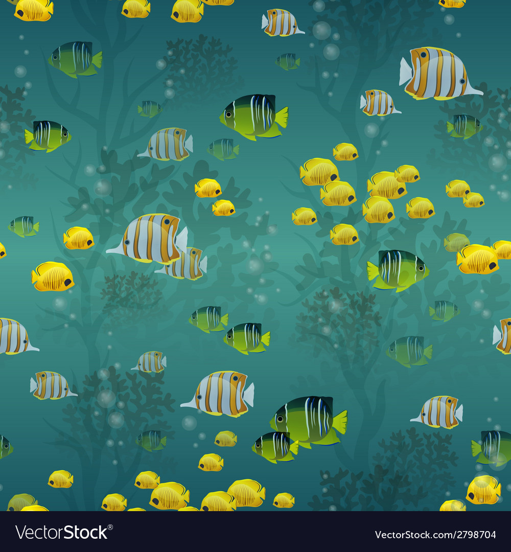 Fish seamless pattern vector | Price: 1 Credit (USD $1)