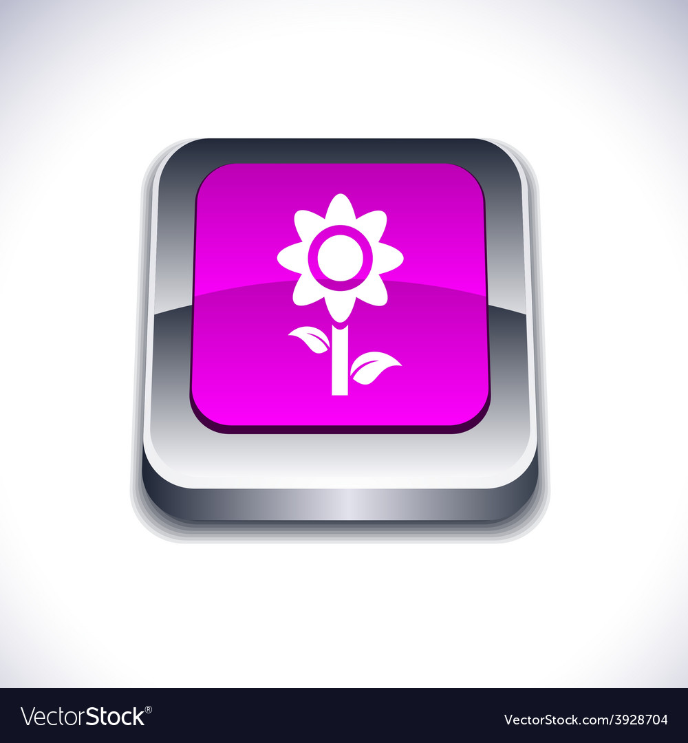 Flower 3d button vector | Price: 1 Credit (USD $1)