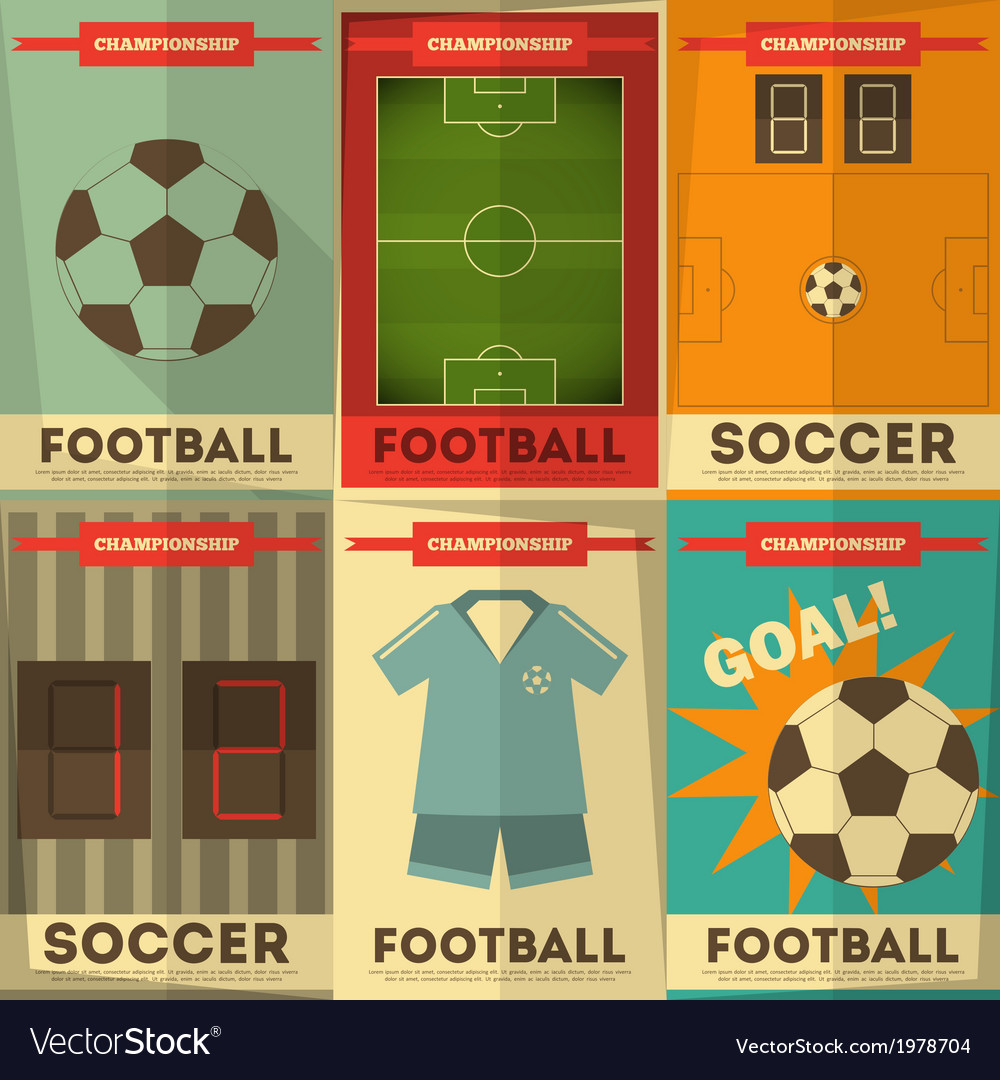 Football posters vector | Price: 1 Credit (USD $1)