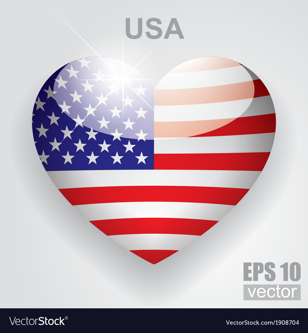 Glass heart flag vector   Price: 1 Credit (USD $1)