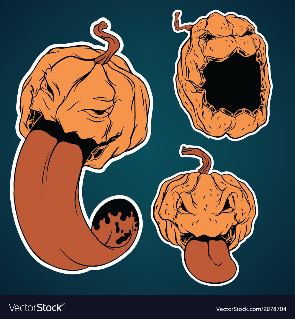 Halloween stickers set vector | Price: 1 Credit (USD $1)