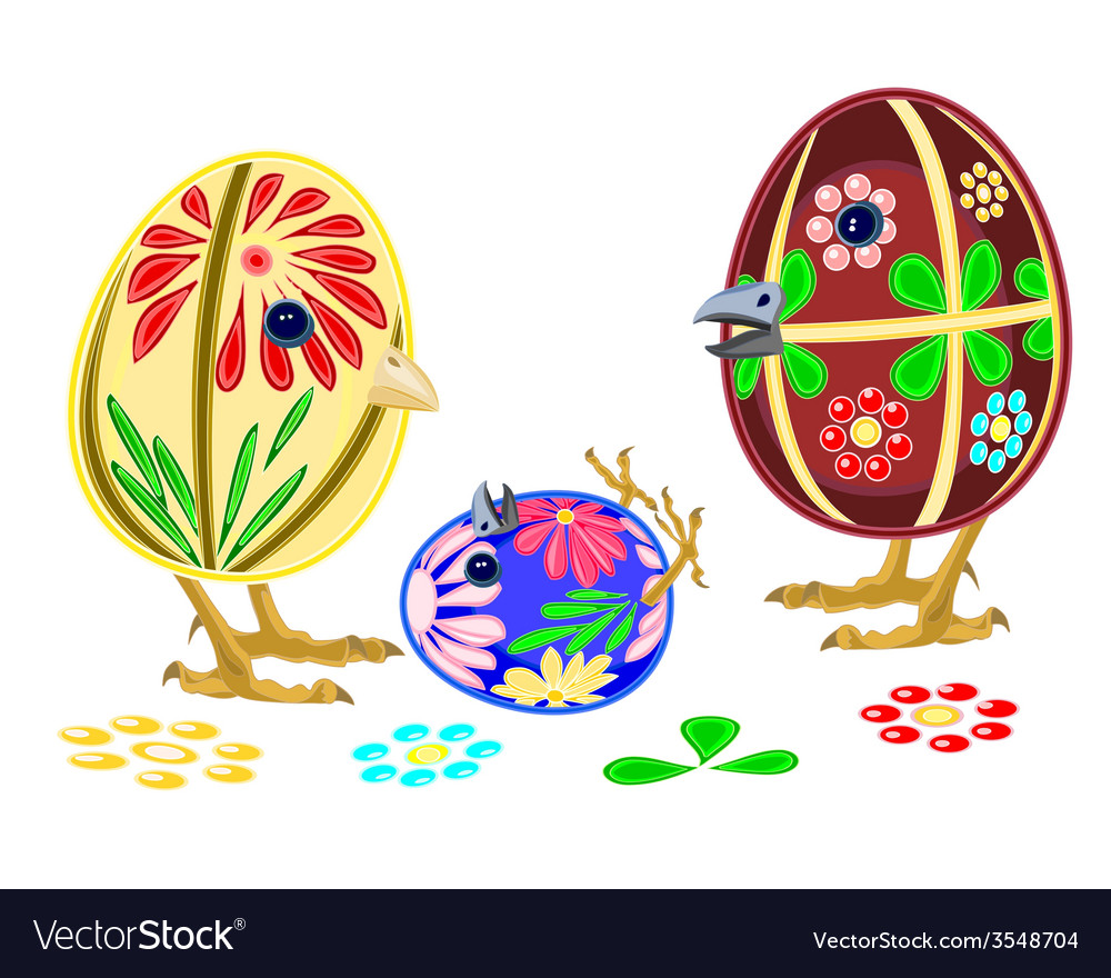 Happy easter eggs family vector | Price: 1 Credit (USD $1)