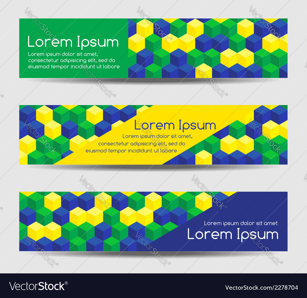 Headers with brazilian pattern vector | Price: 1 Credit (USD $1)