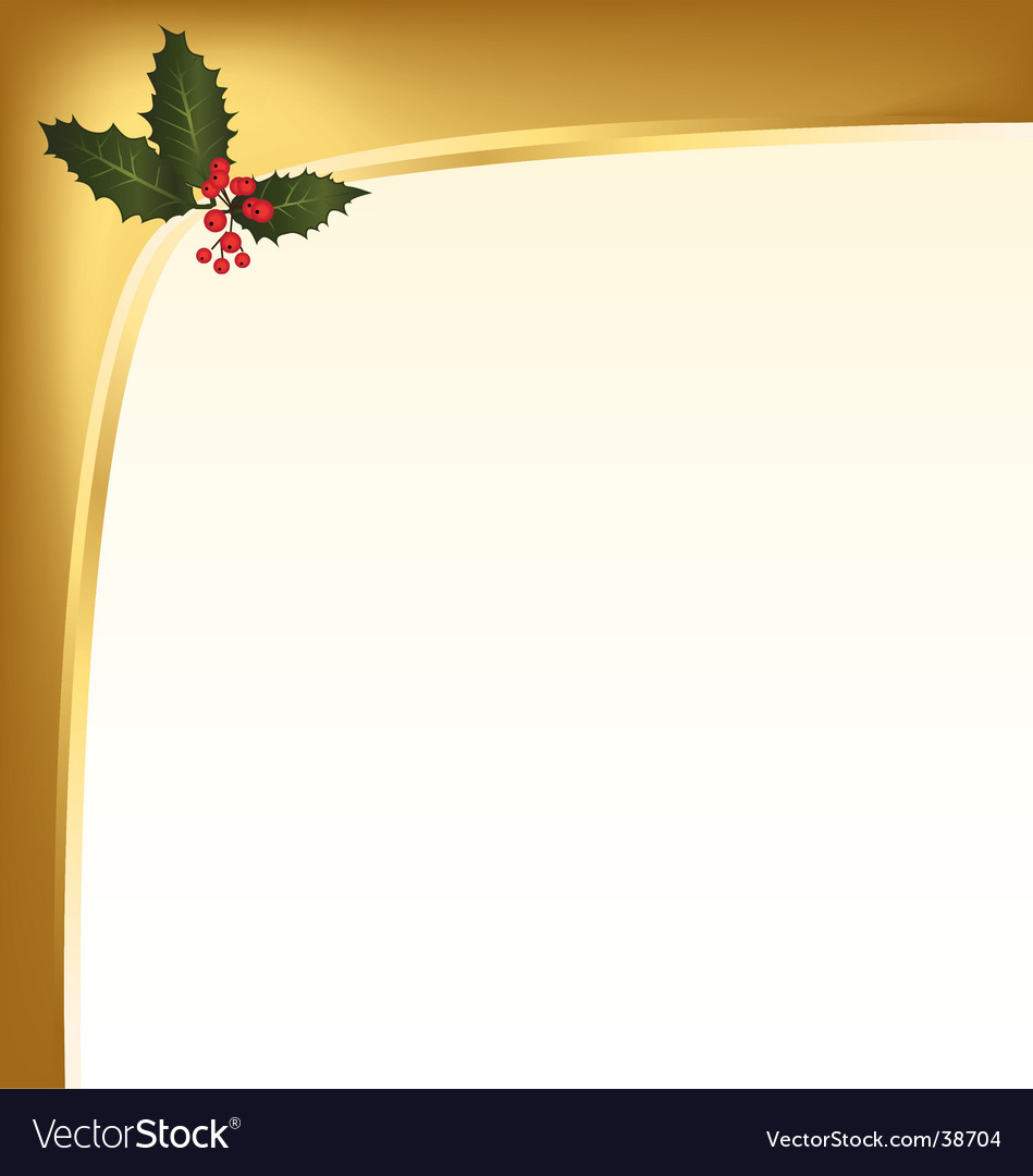 Holly berry background vector | Price: 1 Credit (USD $1)
