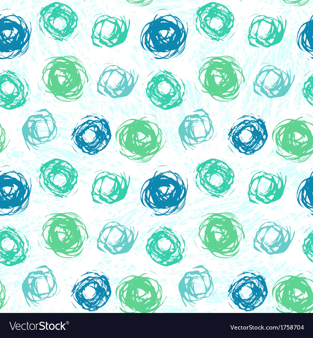 Pattern with brushed circles in spring colors vector | Price: 1 Credit (USD $1)