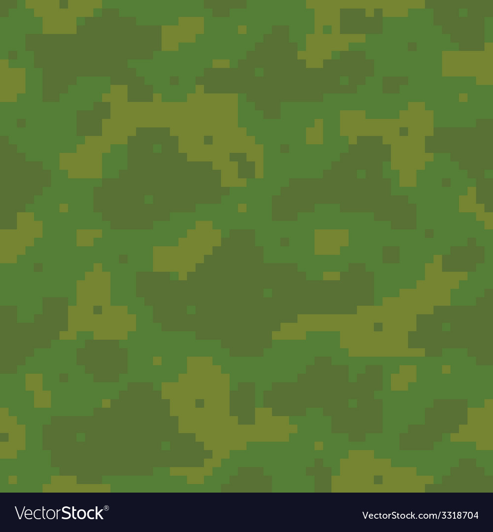 Pixel art army pattern vector | Price: 1 Credit (USD $1)
