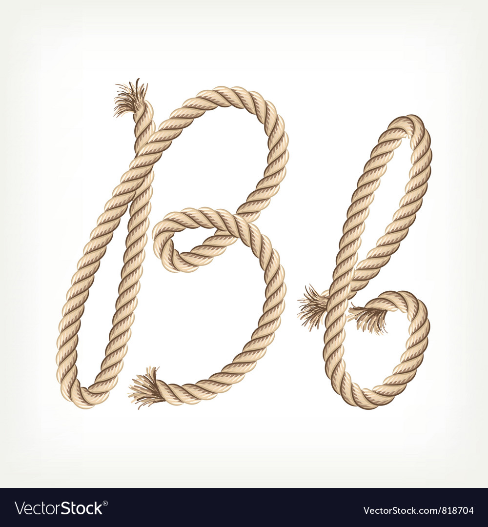 Rope alphabet letter b vector | Price: 1 Credit (USD $1)