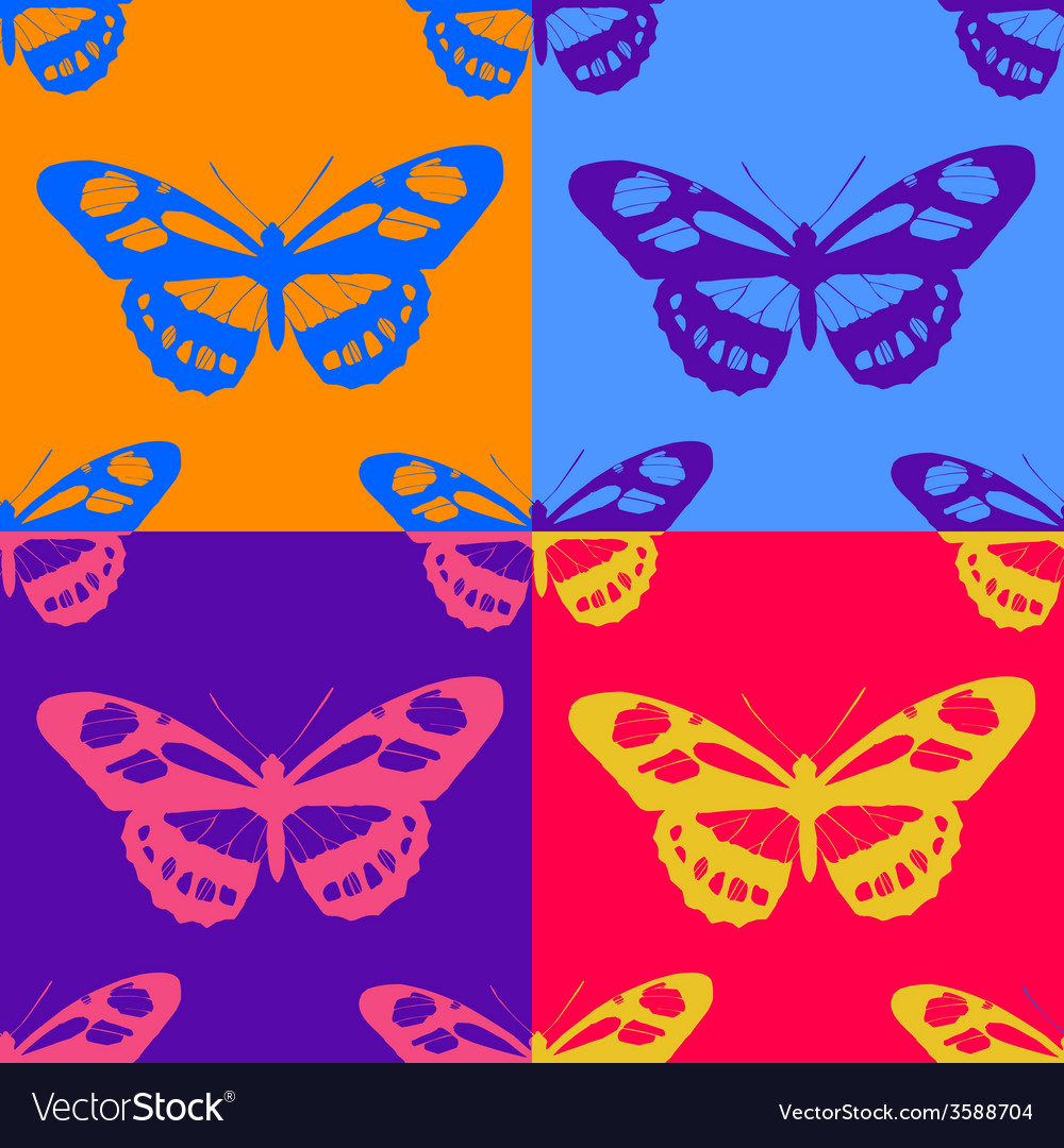 Seamless butterfly background vector | Price: 1 Credit (USD $1)
