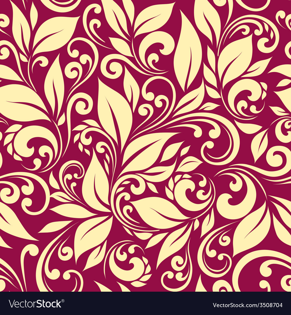 Seamless pattern leaves vector | Price: 1 Credit (USD $1)