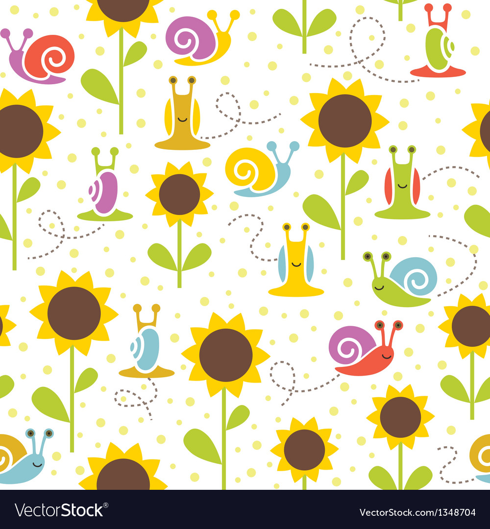 Seamless snail background vector | Price: 1 Credit (USD $1)
