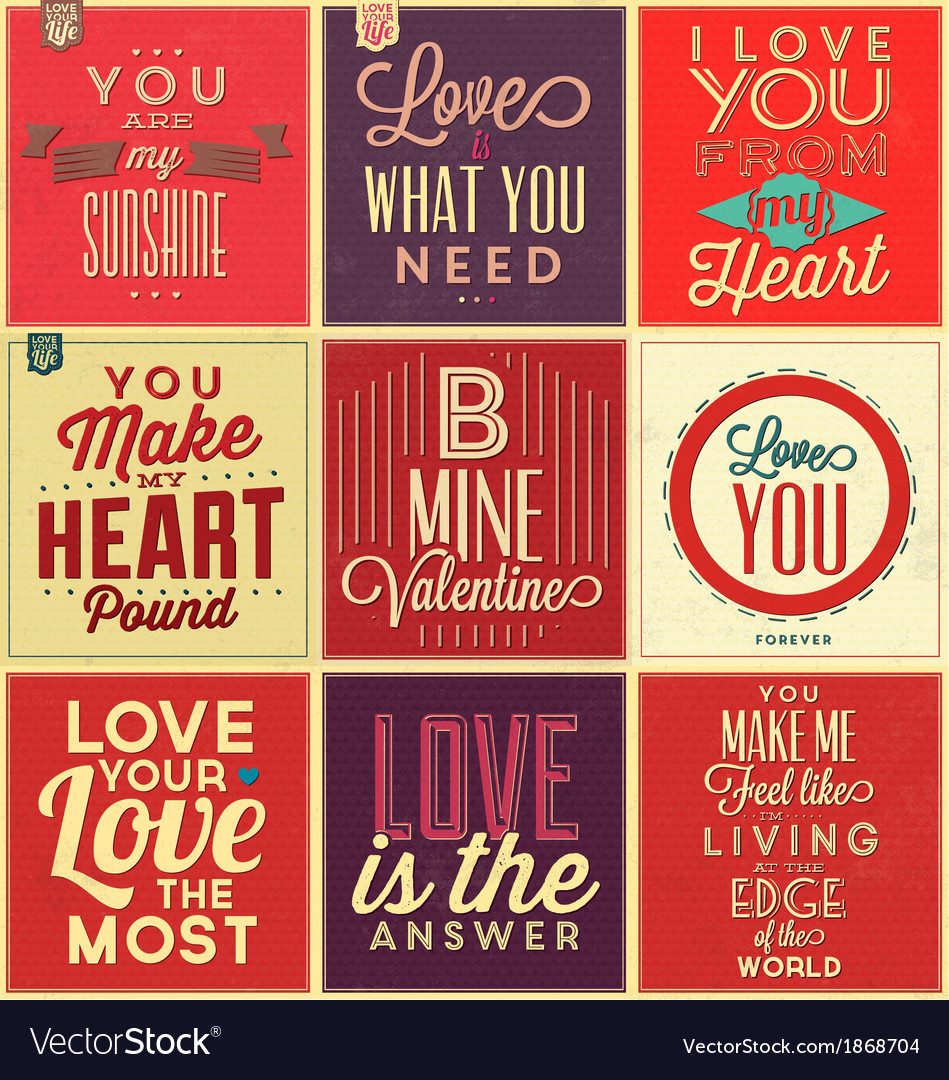 Set of vintage typographic backgrounds vector | Price: 1 Credit (USD $1)