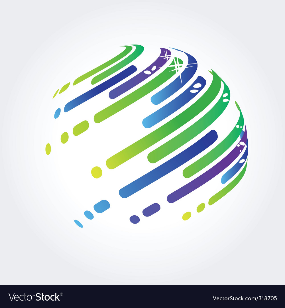 Abstract ball made of stripes vector | Price: 1 Credit (USD $1)