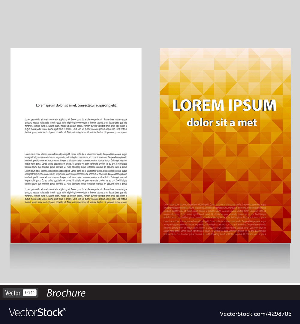 Business brochure with space for text vector | Price: 1 Credit (USD $1)