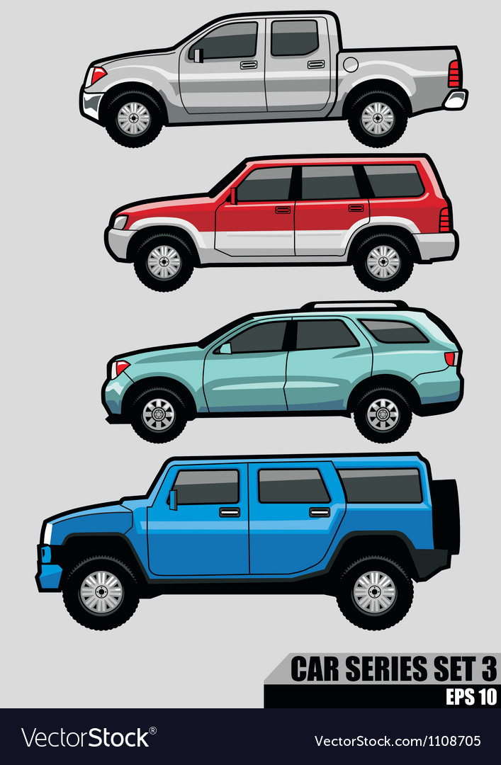 Cars series set 3 vector | Price: 3 Credit (USD $3)