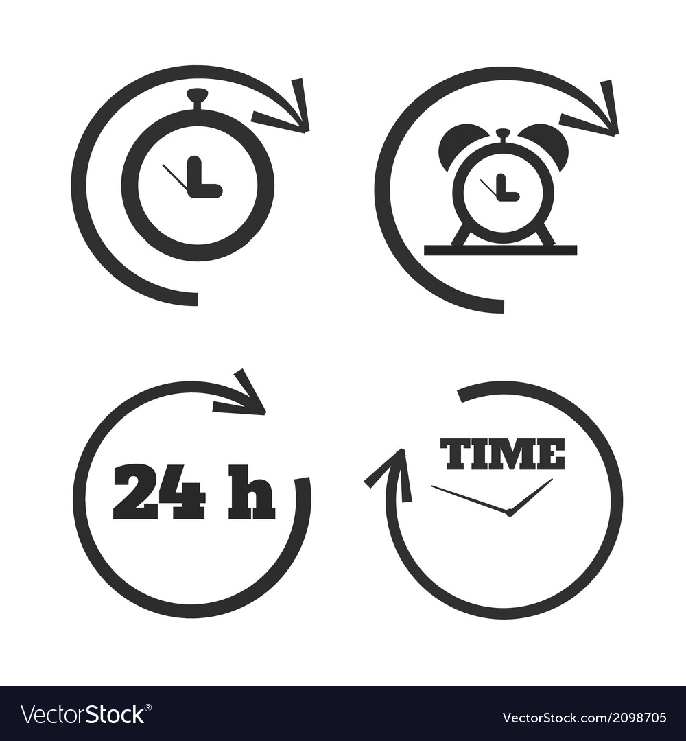Clocks time icons set vector | Price: 1 Credit (USD $1)