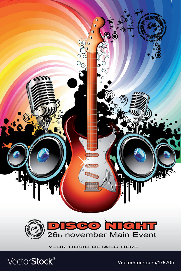 Electric guitar music background vector | Price: 3 Credit (USD $3)
