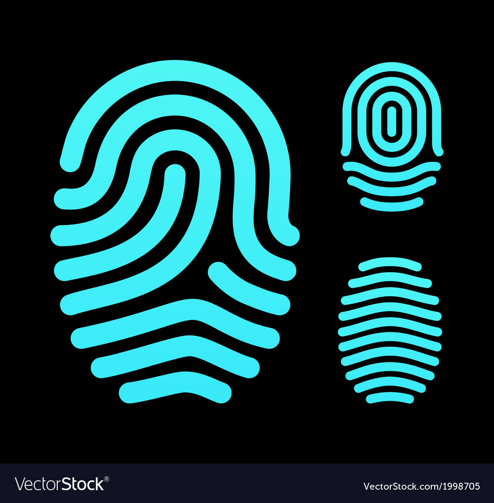 Fingerprint types loop whorl and arch vector | Price: 1 Credit (USD $1)
