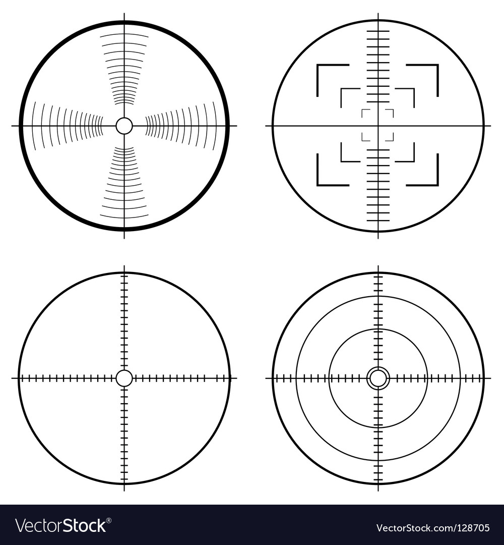 Hunting sight target vector | Price: 1 Credit (USD $1)