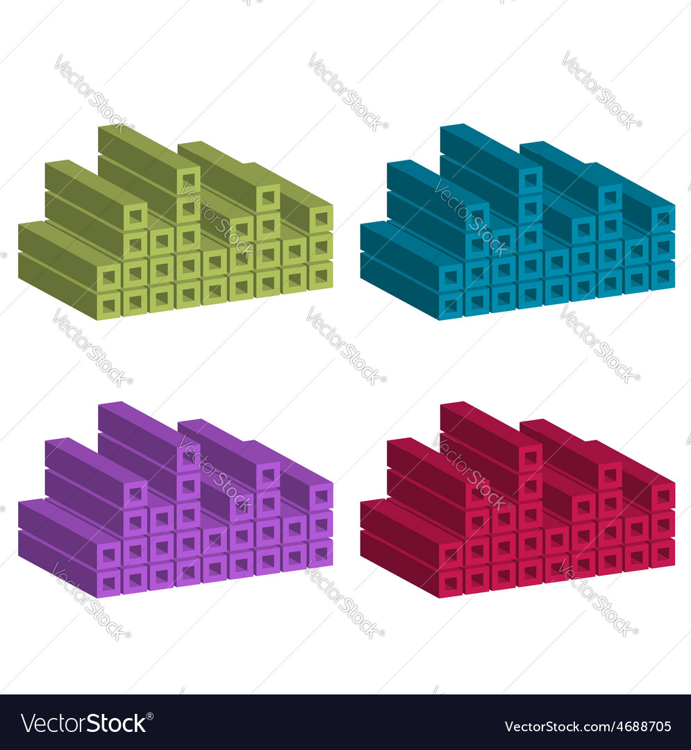 Logo with colorful cubes vector | Price: 1 Credit (USD $1)