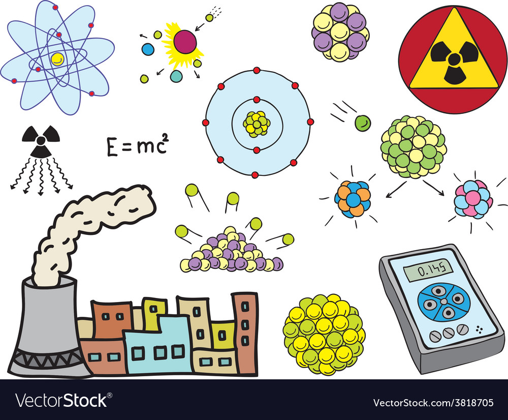 Physics - atomic nuclear energy vector | Price: 1 Credit (USD $1)