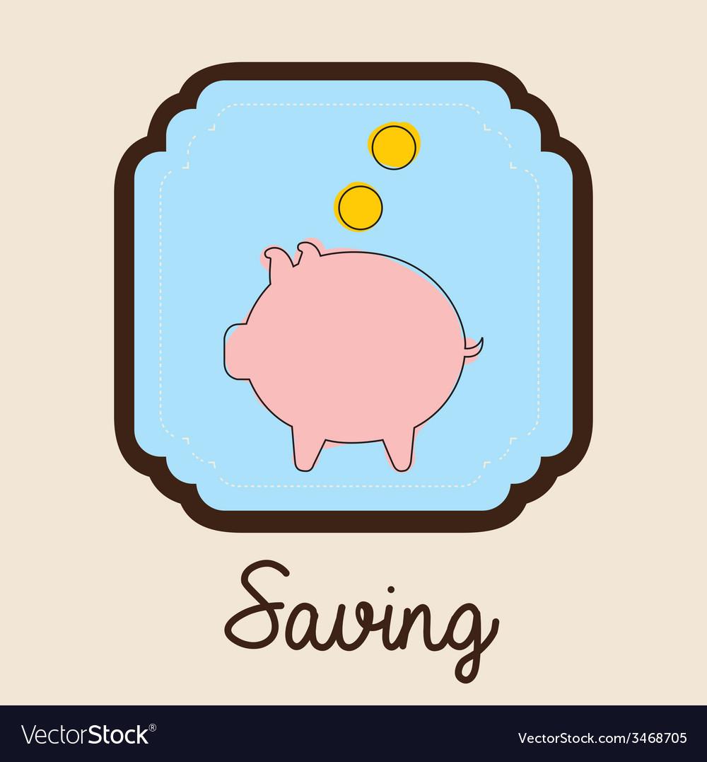 Saving design vector | Price: 1 Credit (USD $1)