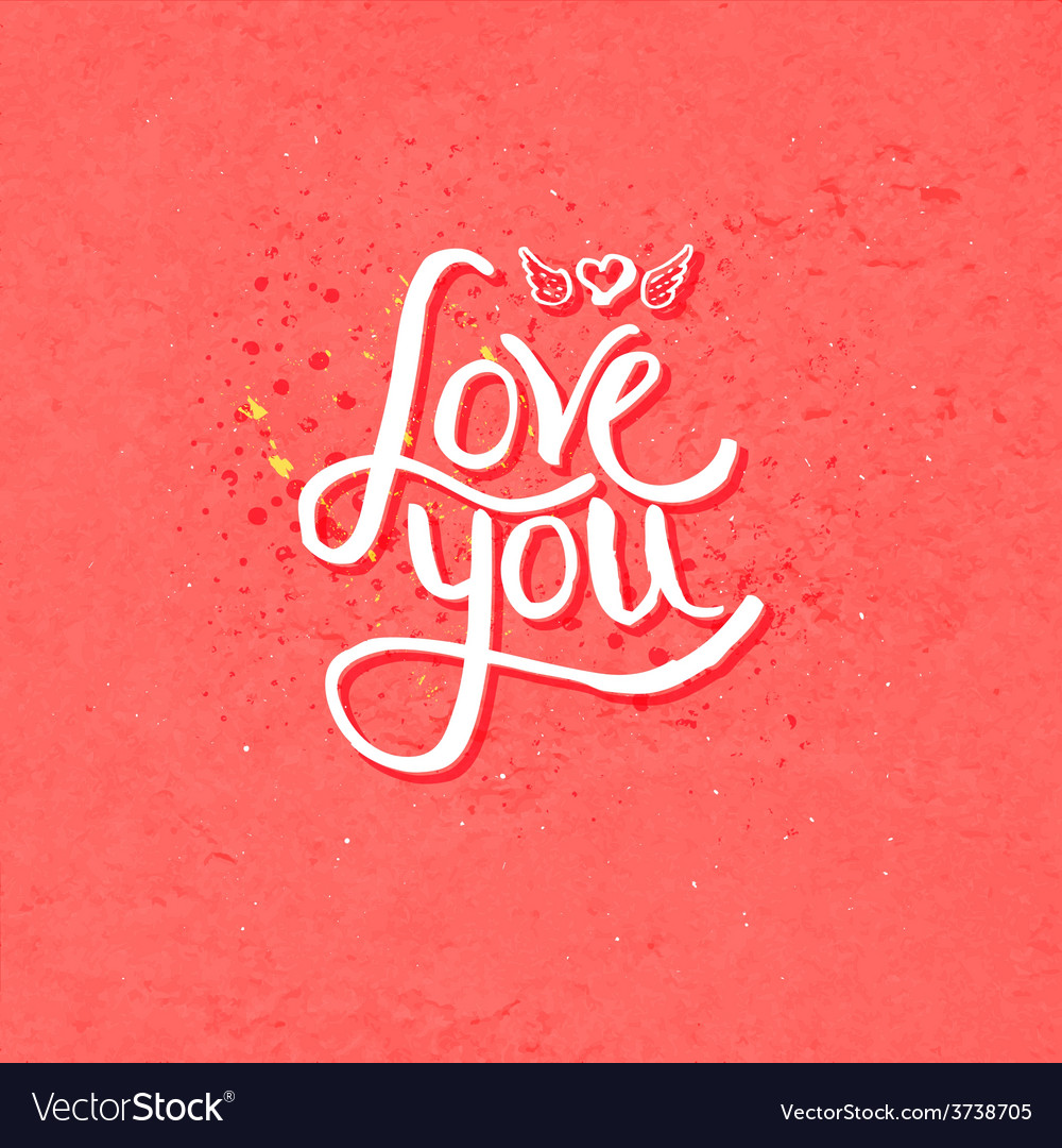 Simple love you concept with winged heart vector | Price: 1 Credit (USD $1)