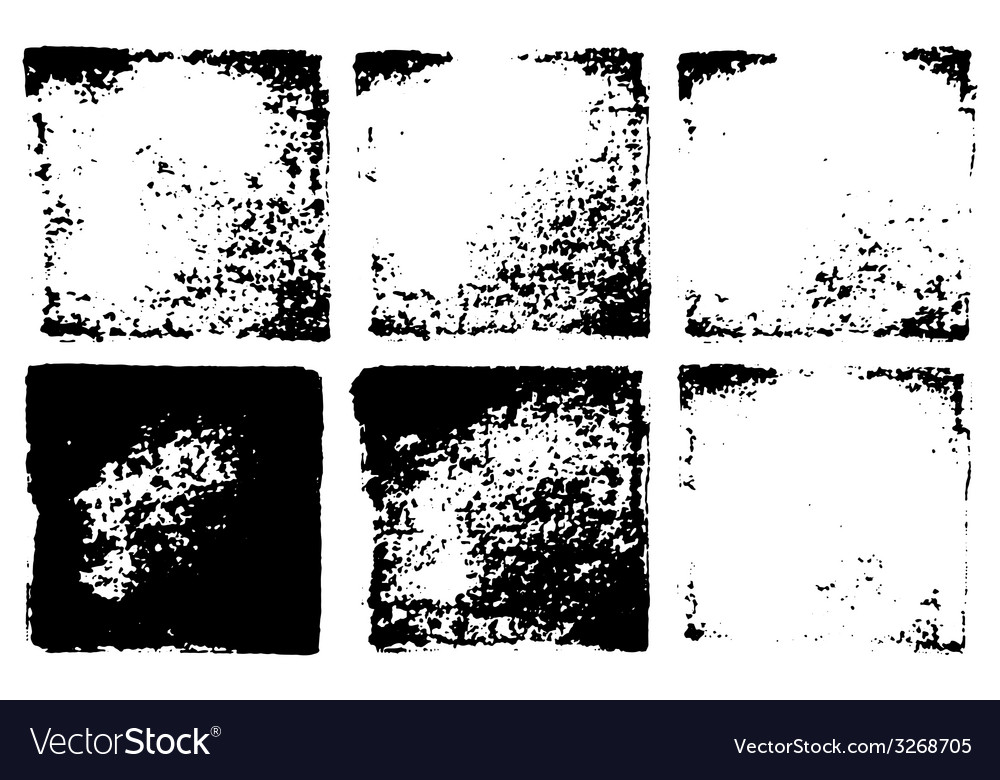 Six grunge squared stamps textures vector | Price: 1 Credit (USD $1)