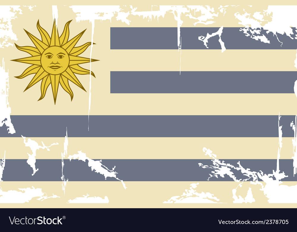 Uruguayan grunge flag vector | Price: 1 Credit (USD $1)