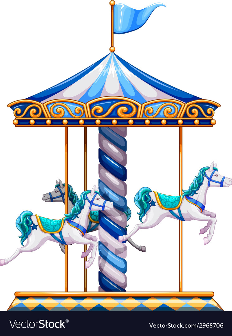 A merry-go-round ride vector | Price: 1 Credit (USD $1)