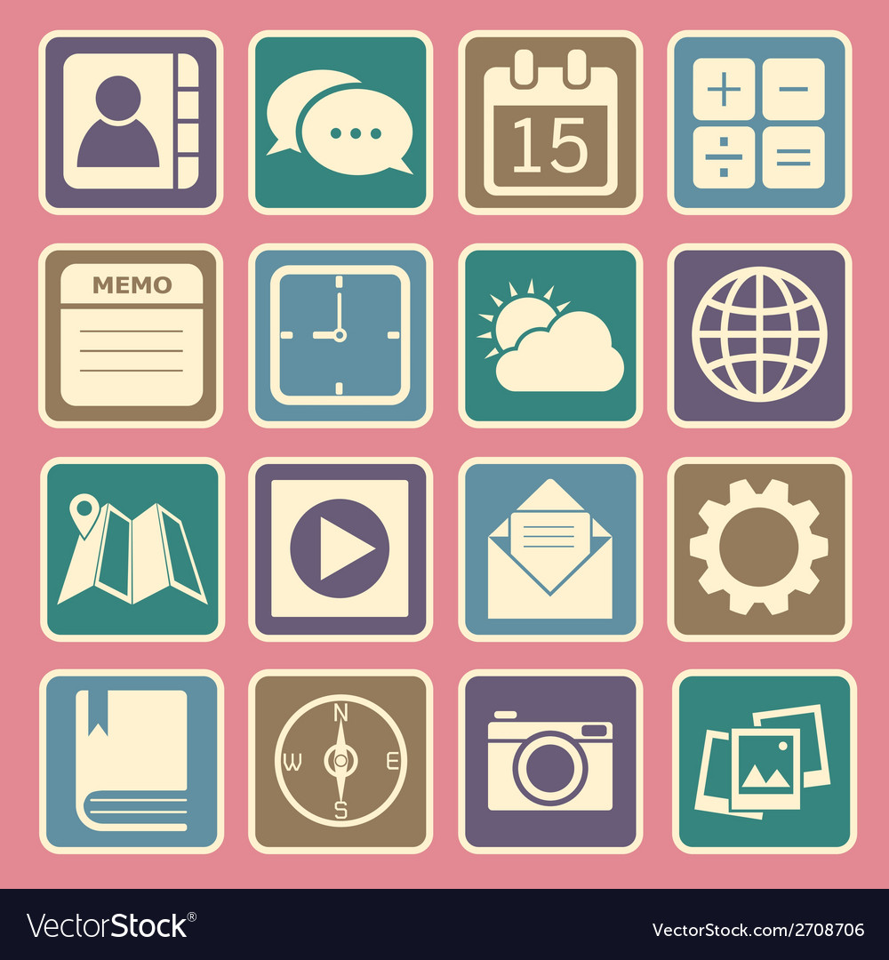 Application icons vector | Price: 1 Credit (USD $1)