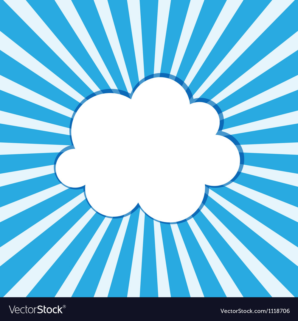 Cloud frame vector | Price: 1 Credit (USD $1)