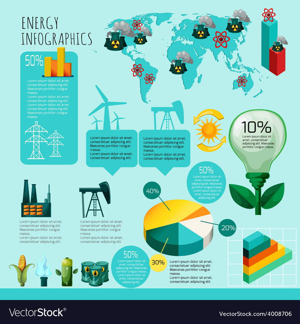 Energy infographics set vector | Price: 1 Credit (USD $1)