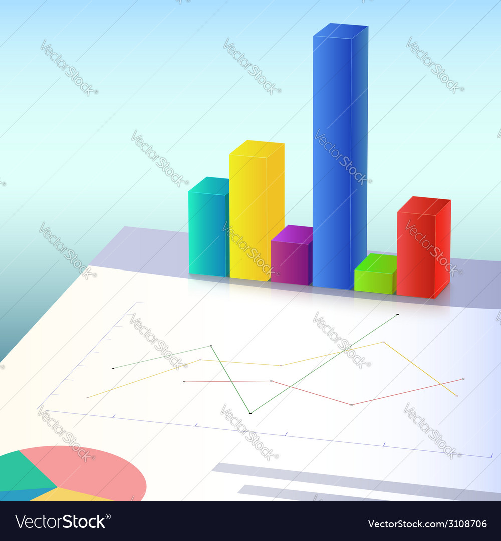 Financial charts and graphs vector | Price: 1 Credit (USD $1)