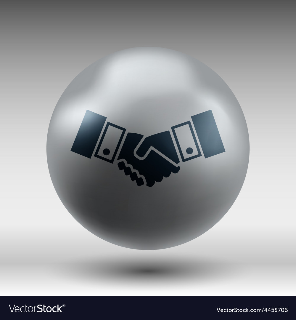 Handshake icon hake meeting business vector | Price: 1 Credit (USD $1)