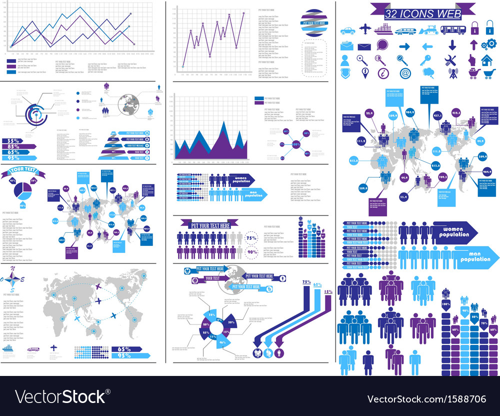 Infographic purple vector | Price: 1 Credit (USD $1)