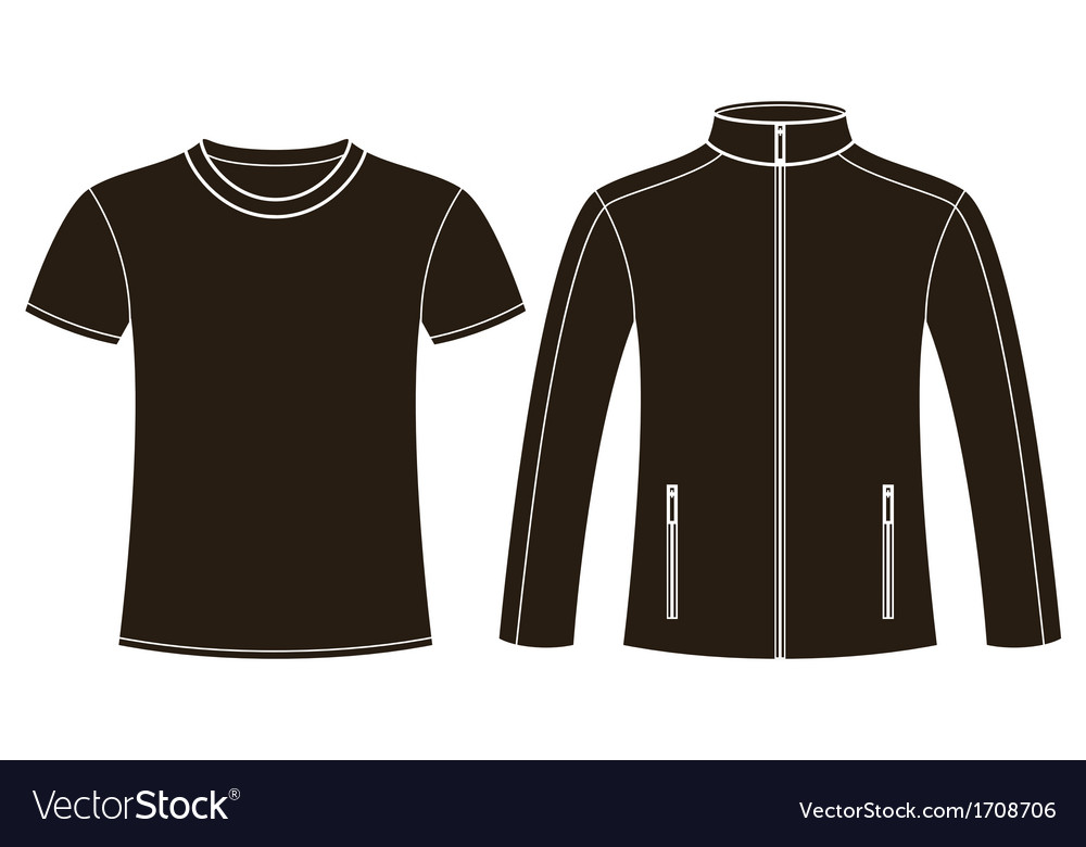 Jacket and t-shirt template vector | Price: 1 Credit (USD $1)
