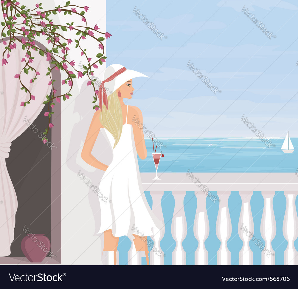 Mediterranean vacation vector | Price: 3 Credit (USD $3)