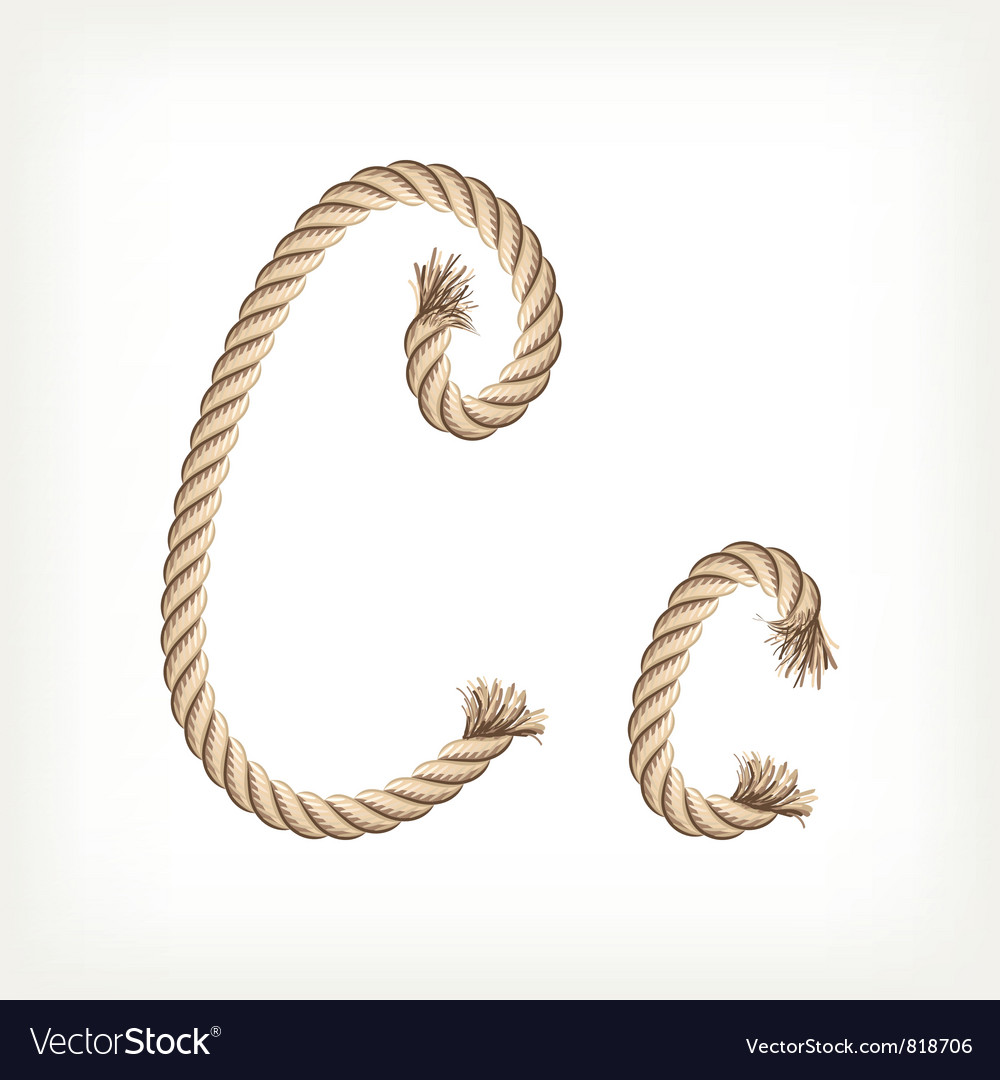 Rope alphabet letter c vector | Price: 1 Credit (USD $1)