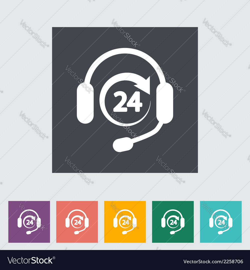 Support 24 hours vector | Price: 1 Credit (USD $1)