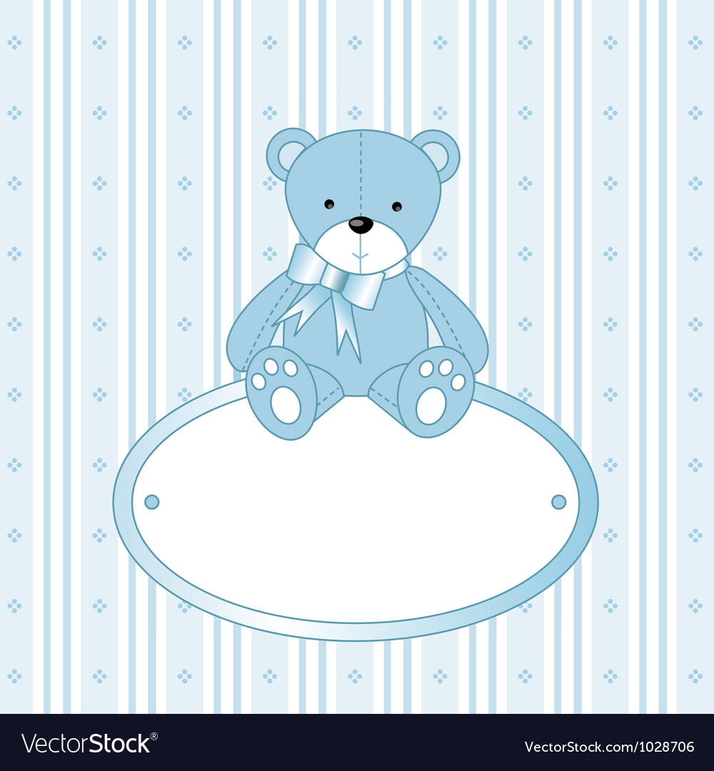 Teddy bear background vector | Price: 1 Credit (USD $1)
