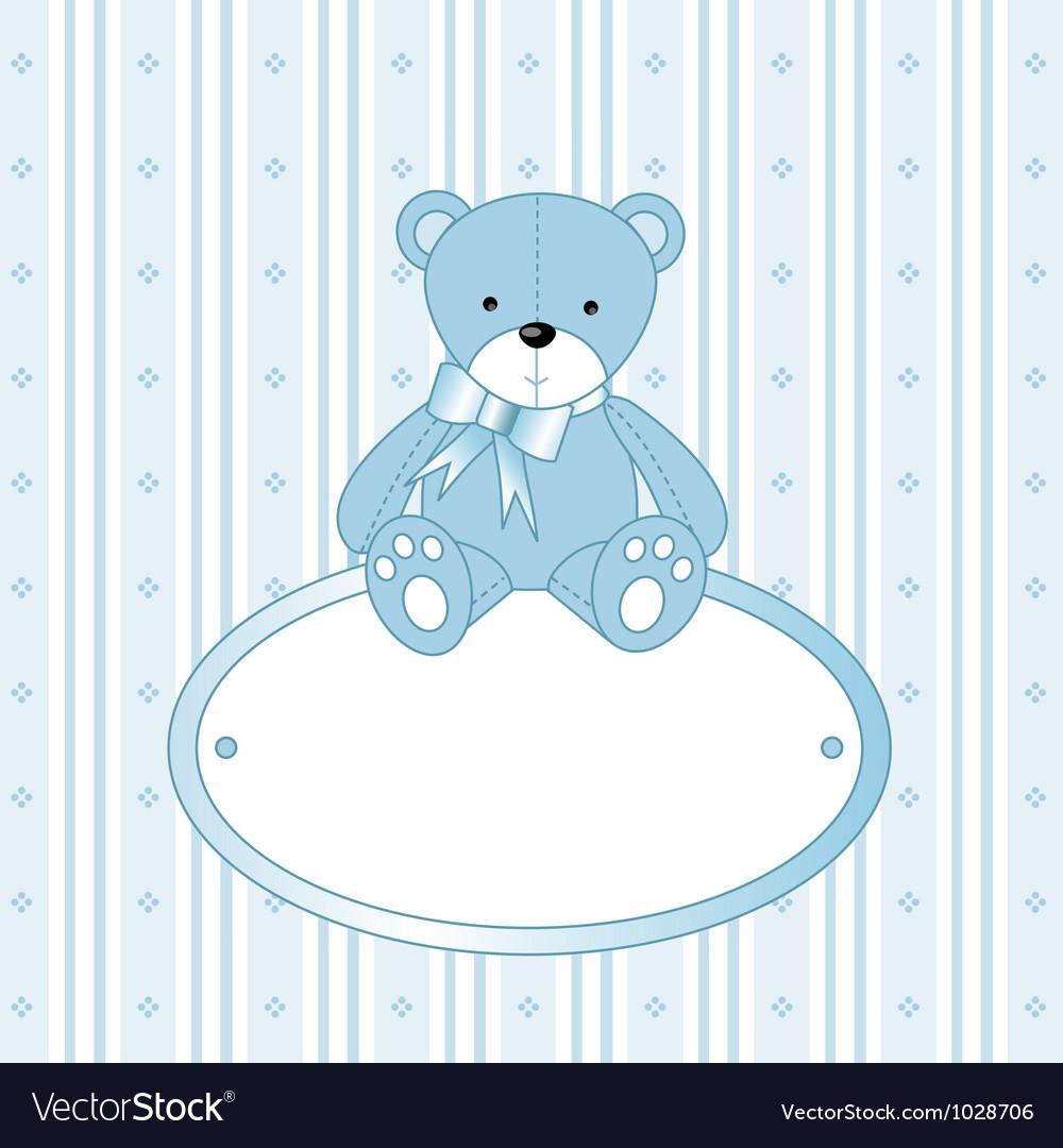 Teddy bear background vector | Price: 1 Credit (USD $1)