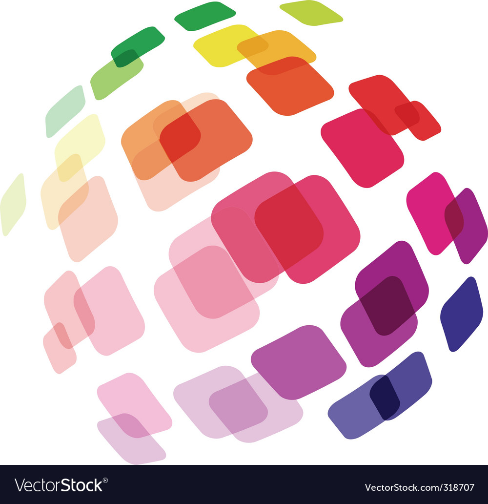 Abstract ball made of squares vector | Price: 1 Credit (USD $1)