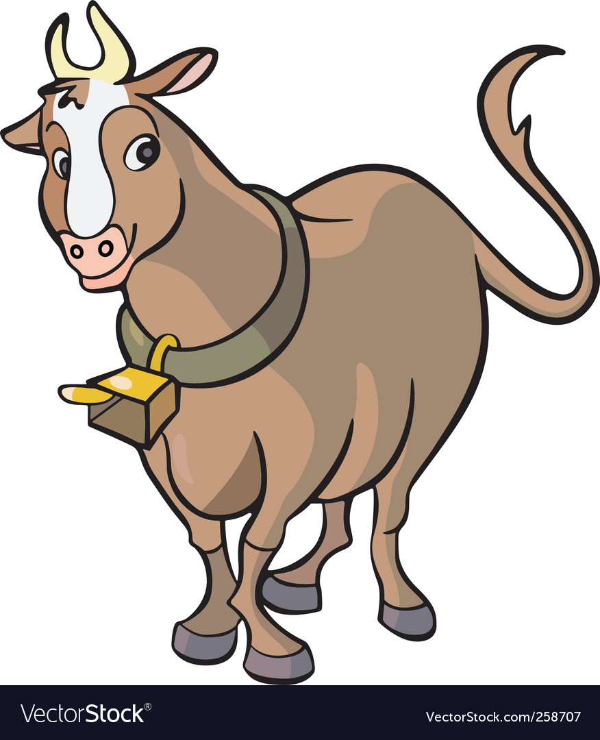 Cow cartoon vector | Price: 1 Credit (USD $1)