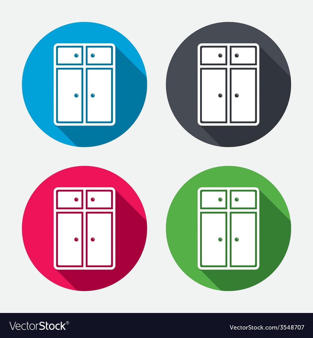 Cupboard sign icon modern furniture symbol vector | Price: 1 Credit (USD $1)