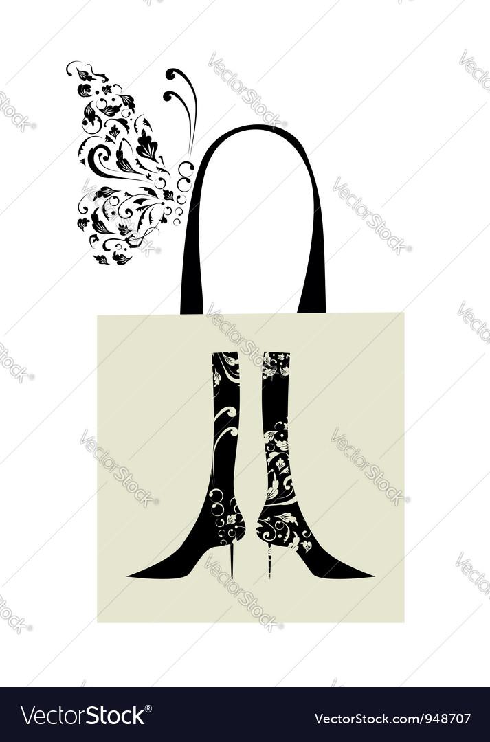 Fashion design of female boots vector   Price: 1 Credit (USD $1)