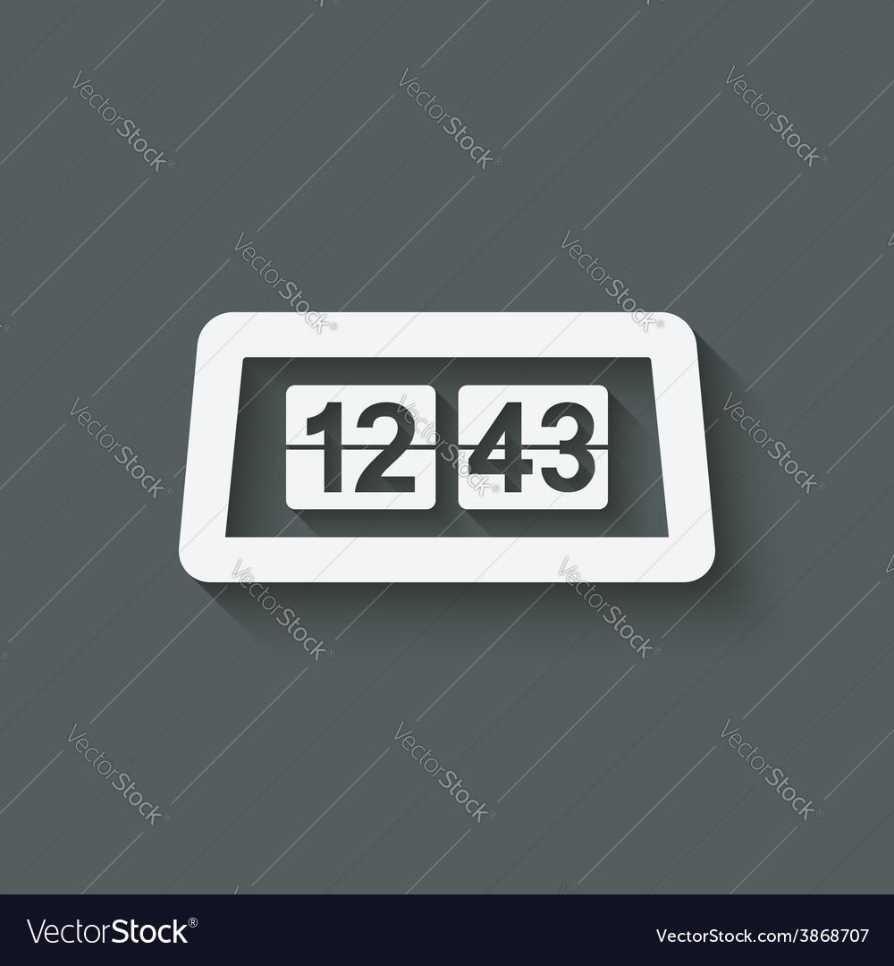 Flip alarm clock vector   Price: 1 Credit (USD $1)