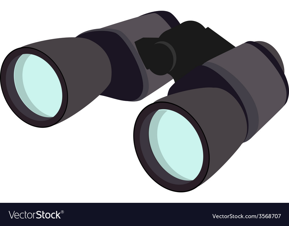Grey binocular vector | Price: 1 Credit (USD $1)