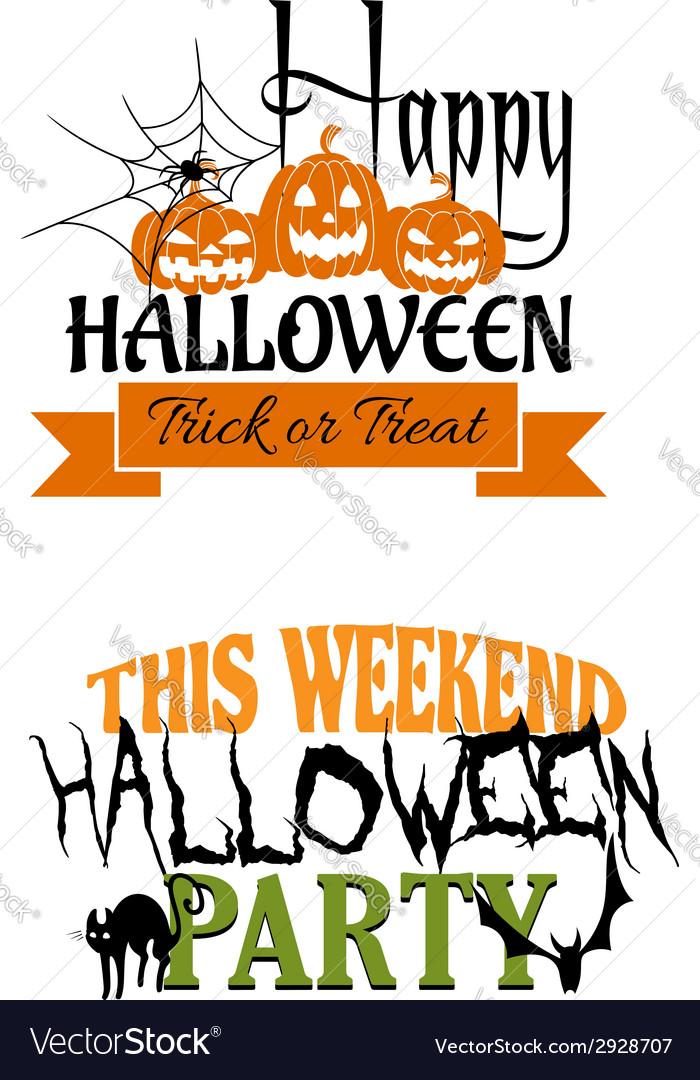 Halloween paty designs vector