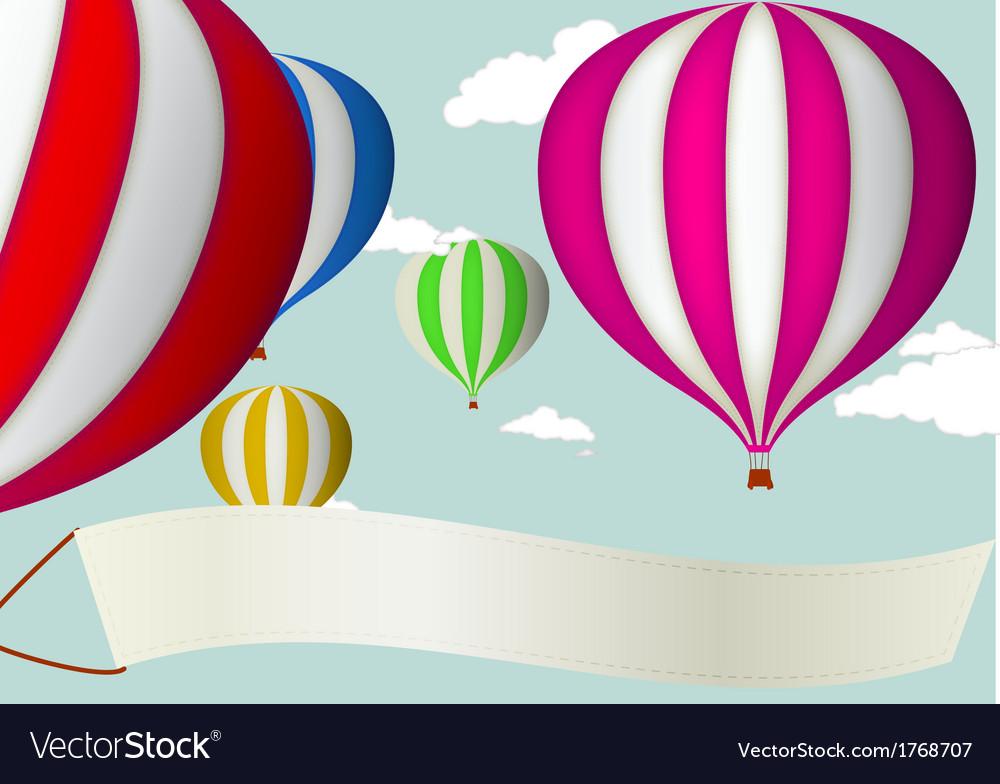 Hot air balloon vector | Price: 1 Credit (USD $1)